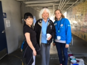 Cicely Hand with Councilmembers Liza Normandy & Karyl Matsumoto