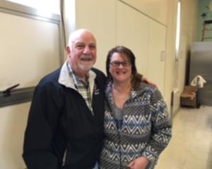 Council member Rich Barbarino with SSFUSD Board President Judy Bush