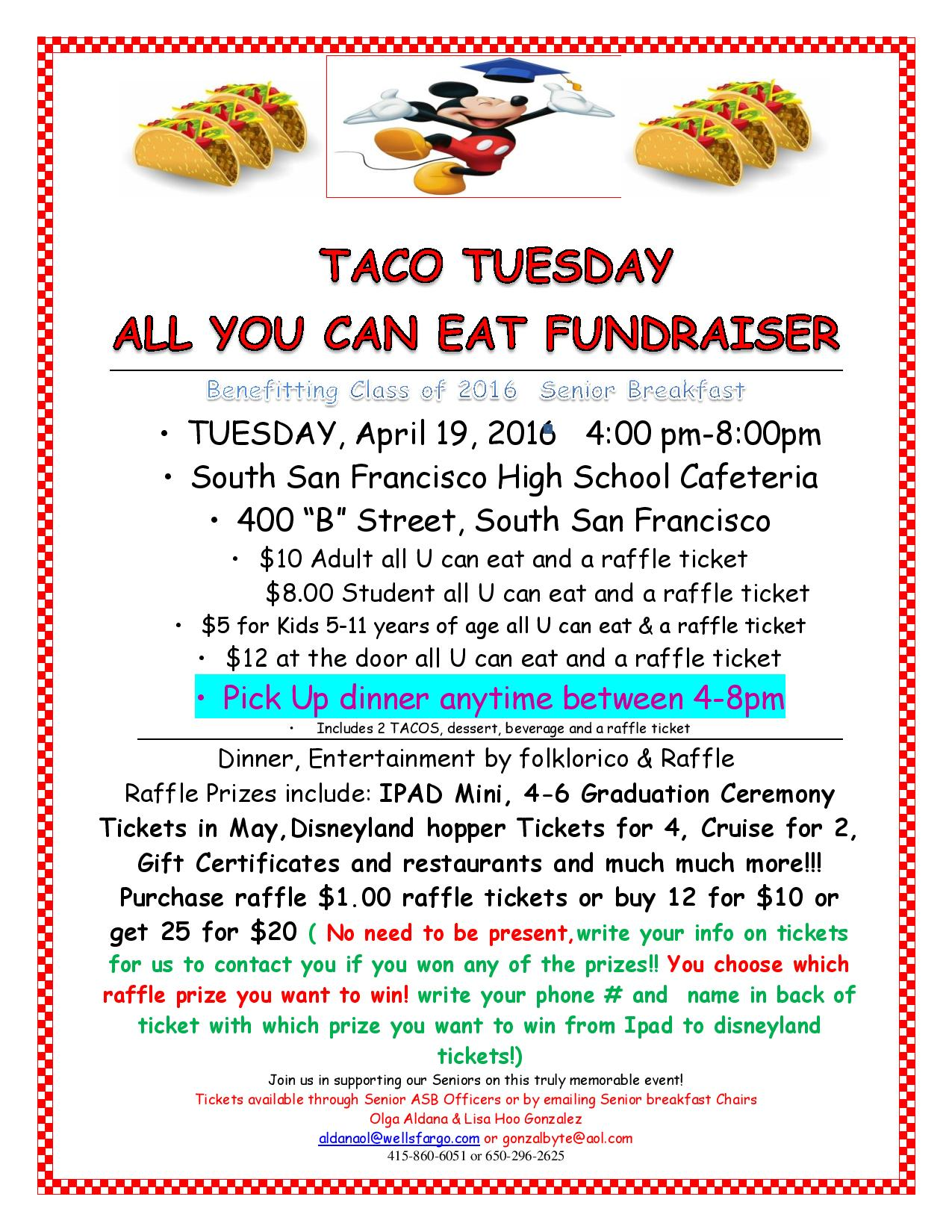 taco tuesday fundraiser Senior Breakfast 2016 April 19th tuesday revised 4 til 8pm!!!!!!$-page-001