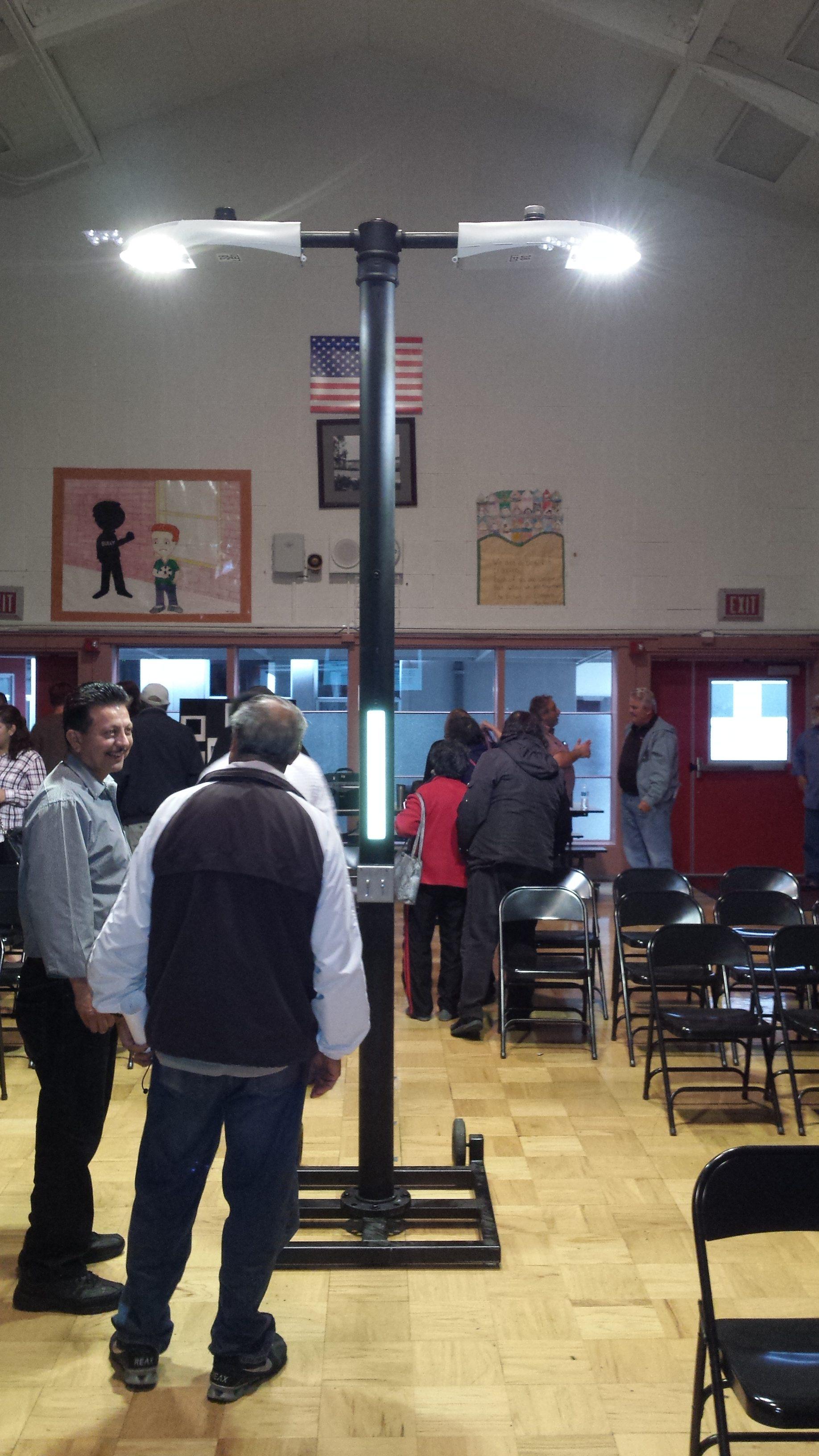 Residents at the Pecks Lot street lighting meeting Photo: Bill Demeter