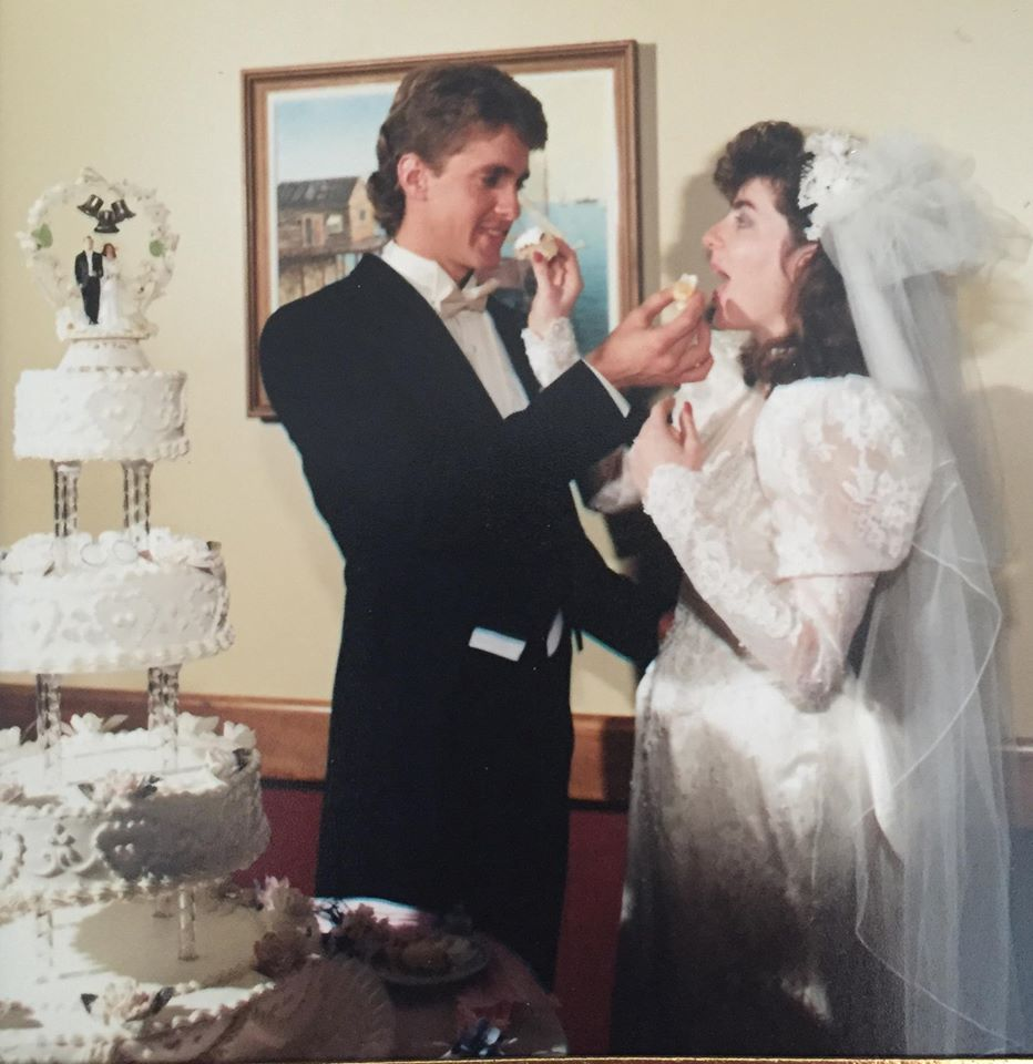 """Our delicious wedding cake came from there!!!"" Alicia Smith Penzel exclaims"