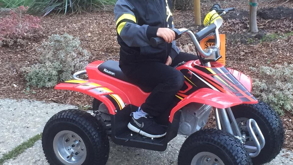 Someone stole this 5 year olds quad & baseball gear from West Winston Manor on Labor Day