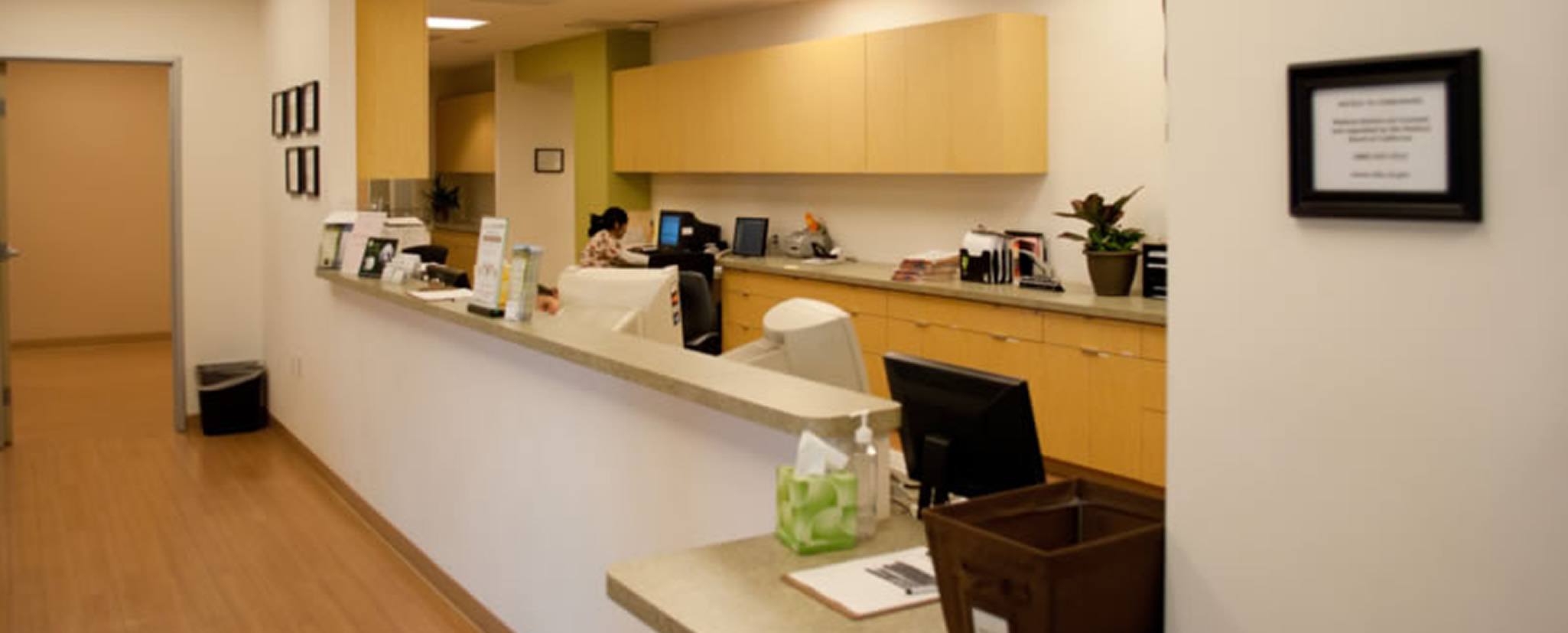 Front desk of office