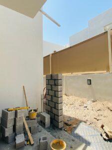 بناء طابوق لتوسعة الصالة