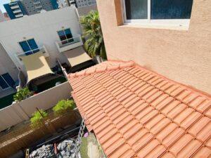 قرميد احمر لسقف ملحق خارجي