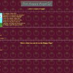 Screenshot of the Happy Page, version 1.