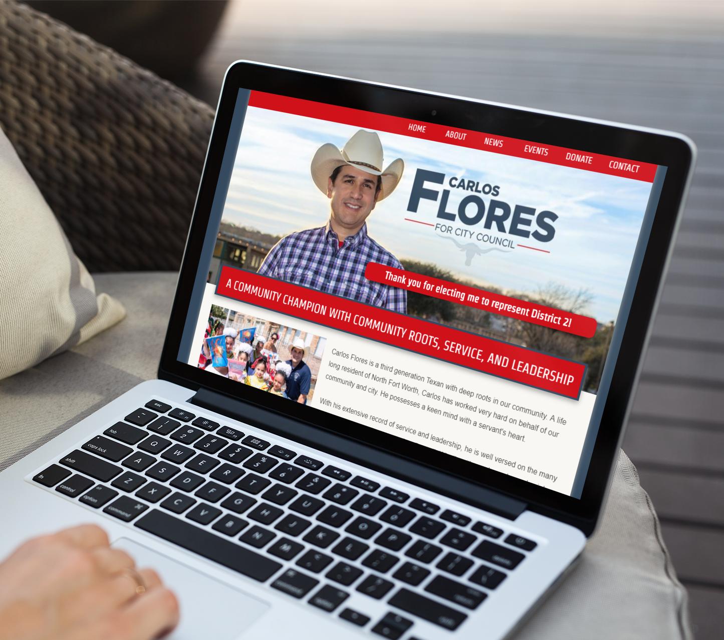 political campaign website