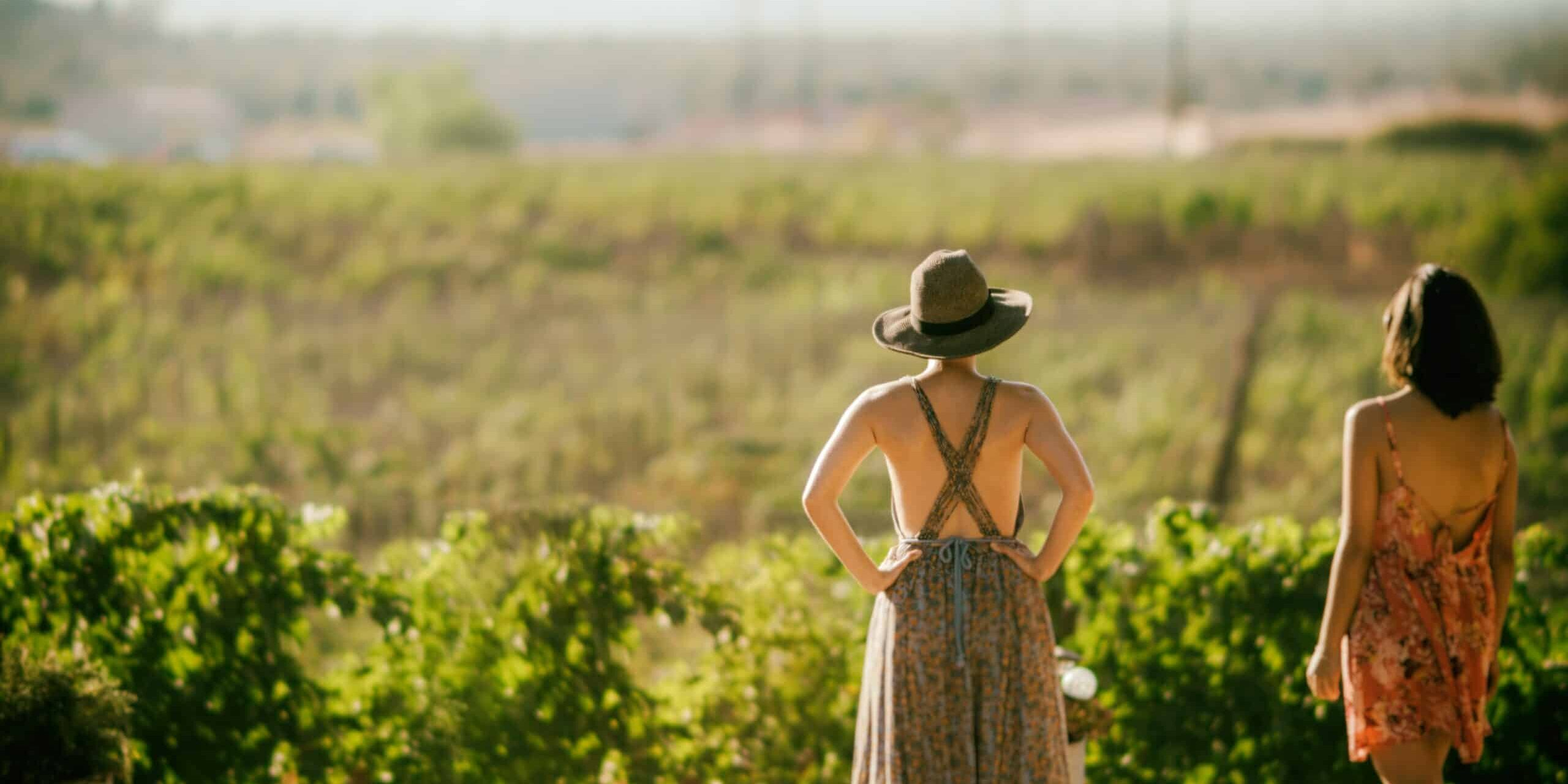 two women at vineyard