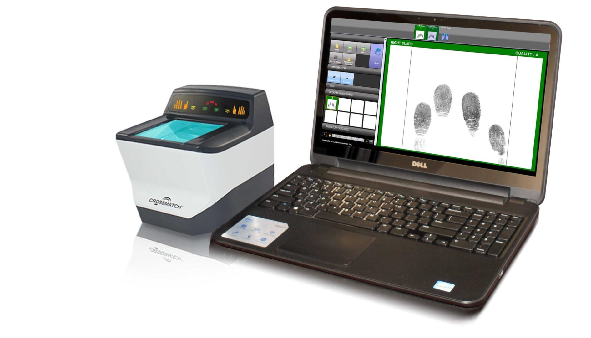 Biometrics4ALL LiveScan with Laptop Guardian 200 1