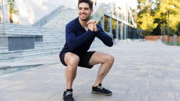 Squatober Squat Challenge Exercise Challenge - Banner - Male