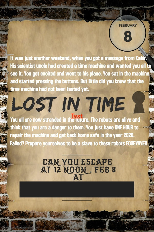 escape room invite