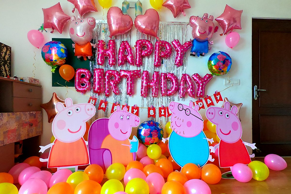 peppa themed party