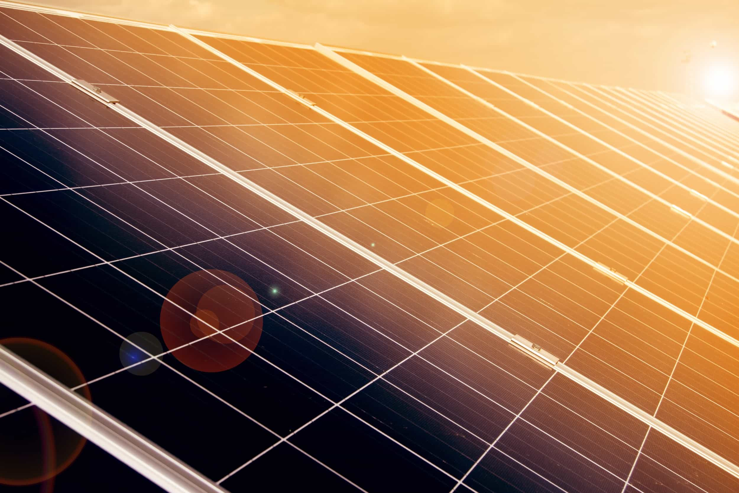 Solar panel background image