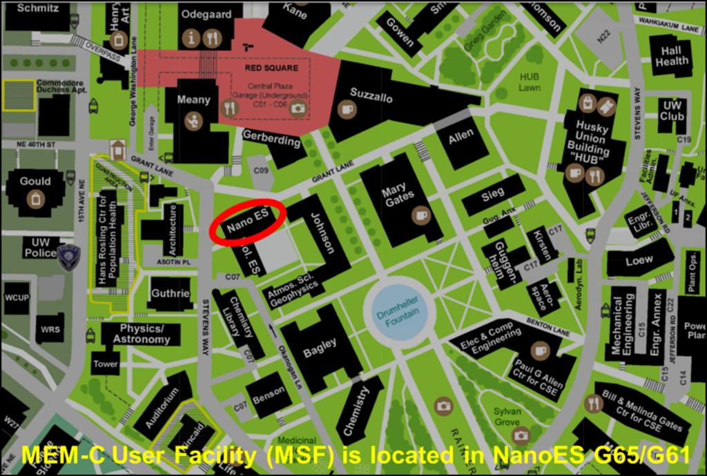 MEM·C Facilities Map