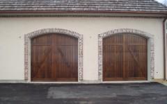 Double single overhead doors without windows
