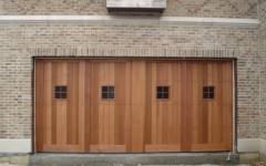 Custom double overhead door with small windows