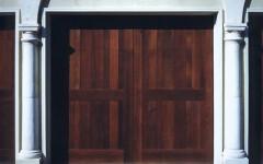 Single overhead garage door without windows