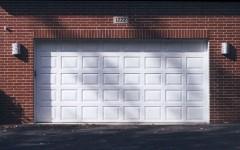 Normal panel garage door white