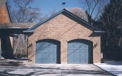 Dual single overhead garage door without windows 5