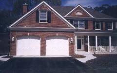 Dual custom single overhead doors white