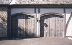 Barnwood custom overhead garage doors without windows