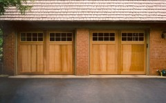 Modern dual garage door with windows