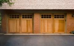 Modern dual garage door with windows