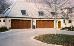 4 car custom garage door with windows
