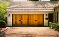Double wide garage door without windows
