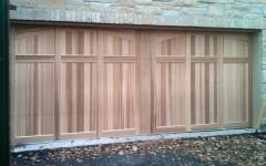 Dual Garage Doors - unstained