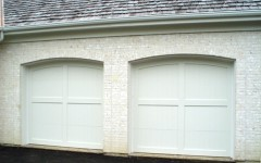 Overhead Doors - White with Arches
