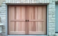 Cedar Overhead Doors - light wood