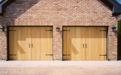 Vertical Garage Doors - Blonde Wood