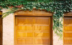 Garage Doors - Light Mohagany Wood
