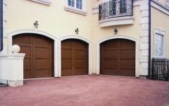 Garage Doors - Dark Wood