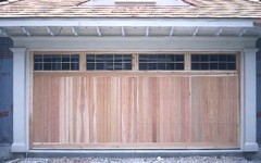Dougle car residential garage door