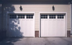 Single overhead garage doors panels white with windows