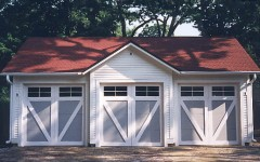 Barn style residential garage doors with windows
