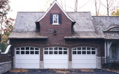 Triple single residential garage doors