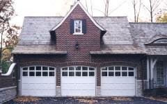 Triple single residential garage doors