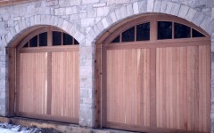 Dual Arch Single Garage Doors with windows