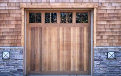 Single Custom Panel Door with windows not stained