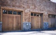 Triple Singe Garage Doors with windows
