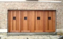 Contemporary Custom Panel Garage Door w single windows