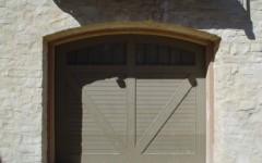 Single Overhead Garage Door - green with wondows