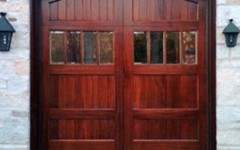 Single Garage Door - wood with windows