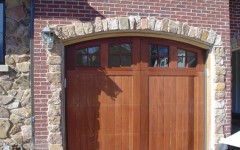Custom Arch Overhead Door with windows