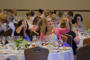 Crystal hosts an interactive wine tasting for the LPGA ladies luncheon at Kingsmill.