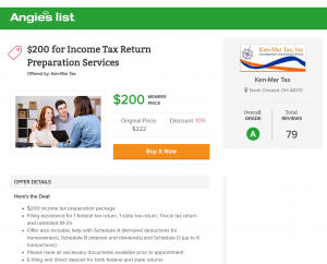 Cleveland tax Preparation Coupon