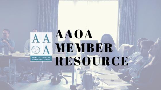 AAOA Member Resource